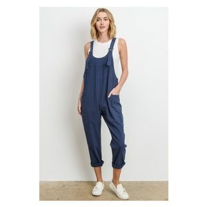 NWT Scoop neck overalls - hemp blend - by Le Lis